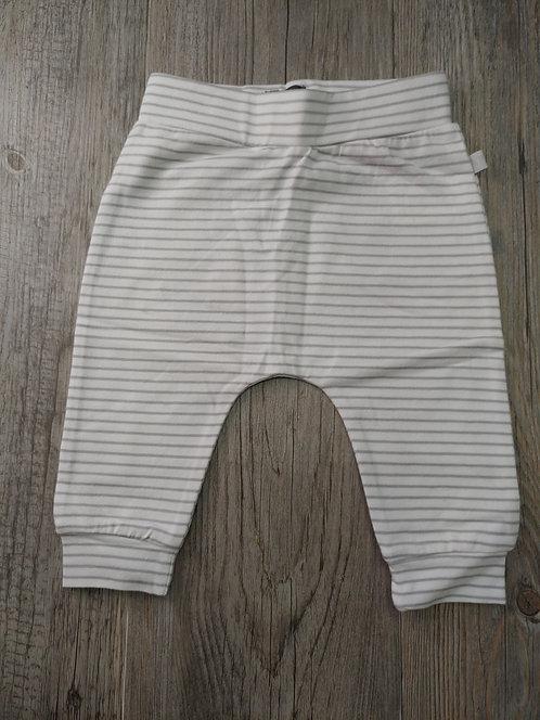 Pantalón Blanco Rayas Grises - 0 meses - BABY FACE