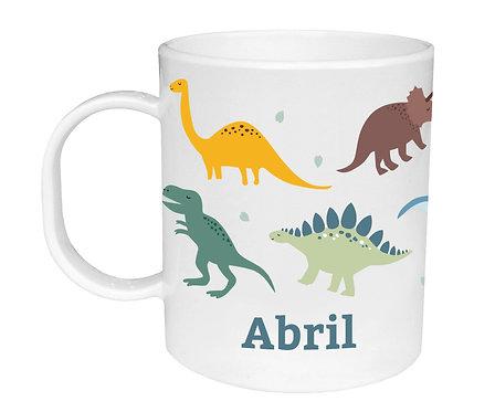 Taza de Plástico Personalizada Dinosaurios