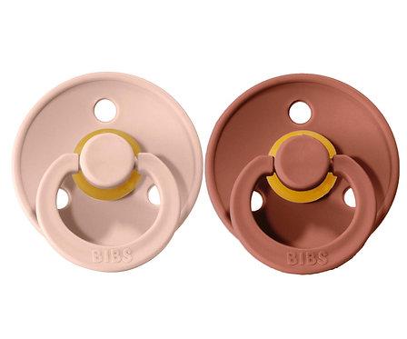 2 Chupetes BIBS Colours Blush/Woodchuck
