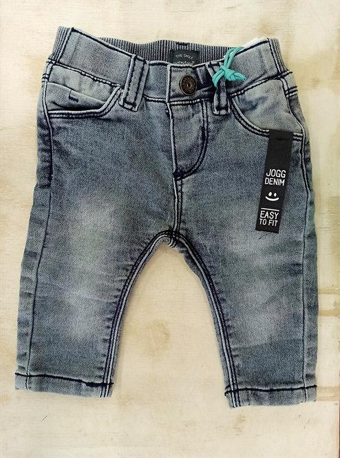 Pantalón Tejano Blue Grey Denim Costuras Azul Marino - BABY FACE