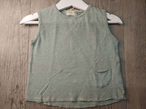 Camiseta Tirantes Verde Rayas - PLAY UP
