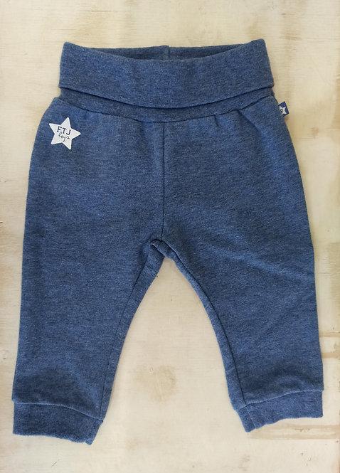 Pantalón Azul Jaspeado Estrella - 1 mes - FEETJE