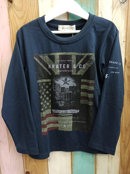 Camiseta Azul Marino EEUU - 6 años - KRATER