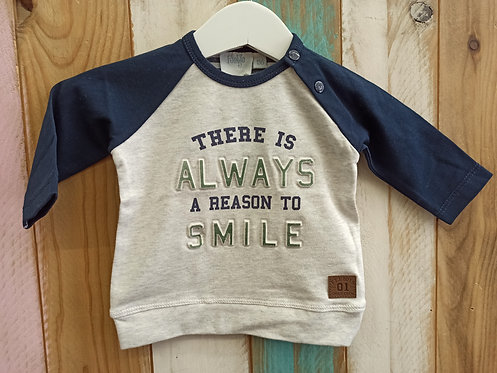Camiseta There Is Always a Reason To Smile - FEETJE