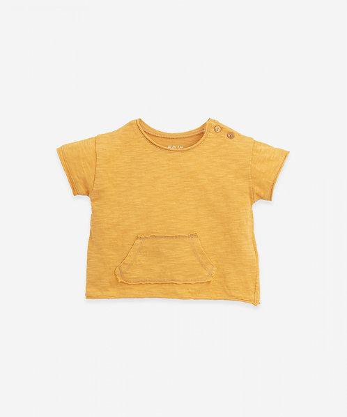 Camiseta de Algodón Orgánico con Bolsillo | Botany - PLAY UP