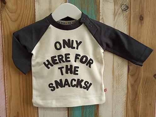 Camiseta Only Here For The Snacks! - FEETJE