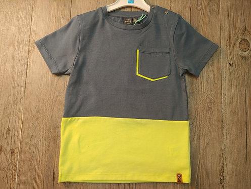 Camiseta Azul y Amarillo con Bolsillo - BABY FACE
