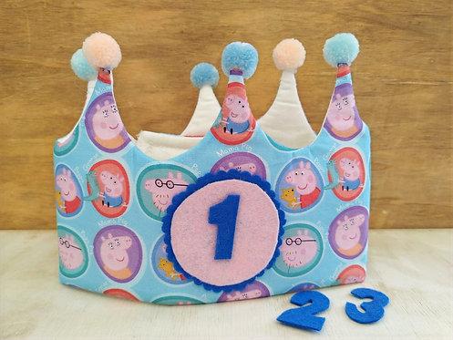 Corona de Cumpleaños Peppa Pig - RAINBOW BABY
