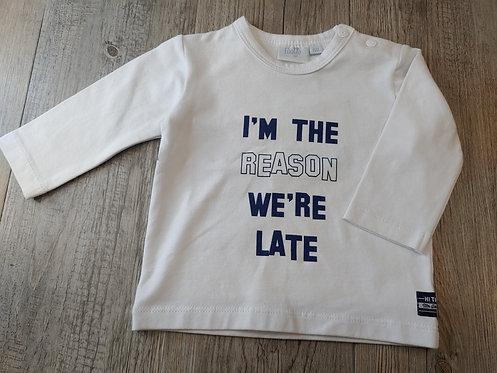 Camiseta Blanca I'm The Reason We're Late - 3 meses - FEETJE