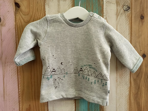 Sudadera Gris Kid You'll Move Mountains - FEETJE