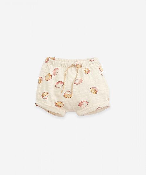 Pantalón corto de algodón orgánico con bajo vuelto | Botany - PLAY UP
