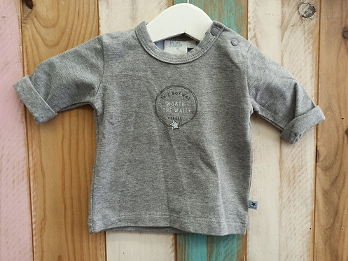 Camiseta Gris This Boy Was Worth The Wait - 1 mes - FEETJE