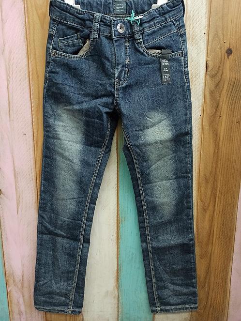 Pantalón Tejano Desgastado Grey Blue Denim - BABY FACE