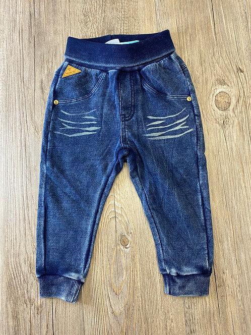 Pantalón Chándal Jeans Azul Oscuro Goma Cintura - 9 meses - FEETJE