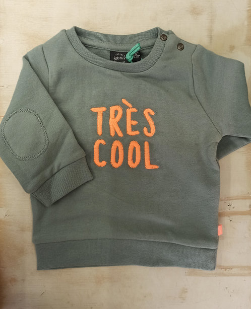 Sudadera Verde Très Cool - BABY FACE