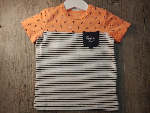 Camiseta Anclas y Rayas con Bolsillo - FEETJE