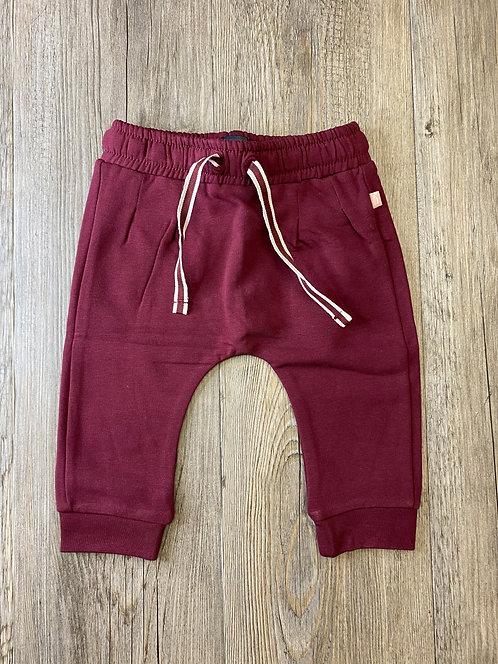 Pantalón Granate Con Cordón - 3 meses - BABY FACE