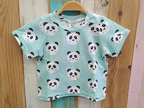 Camiseta Verde Pandas - CACHALOTE