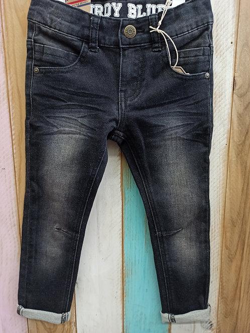 Pantalón Tejano Desgastado Antracita - 4 años - STURDY