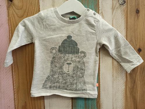 Camiseta Gris Oso Con Gorro - BABY FACE