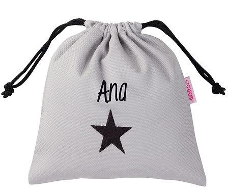 Bolsa Merienda Personalizada Estrella Negra