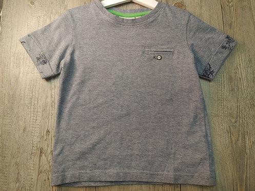 Camiseta Azul Rayitas con Bolsillo - UBS2
