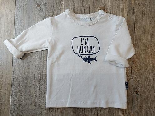 Camiseta Blanca Tiburón I'm Hungry - 3 meses - FEETJE