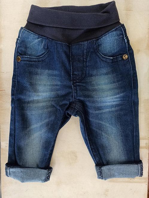 Pantalón Tejano con Goma en la Cintura - 6 meses - FEETJE