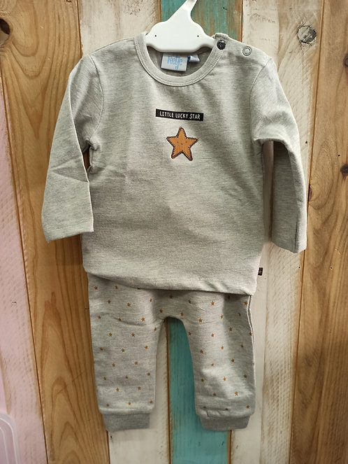 Conjunto Gris Little Lucky Star - 6 meses - FEETJE