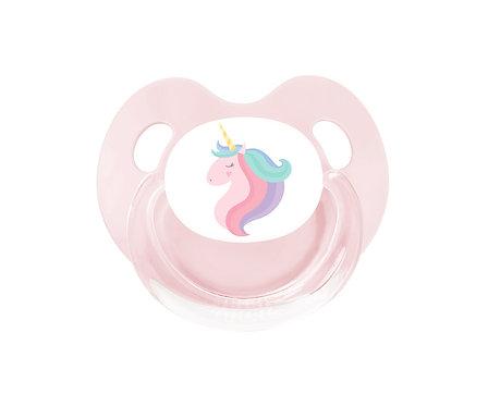 PRO Chupete Retro Rosa Unicornio