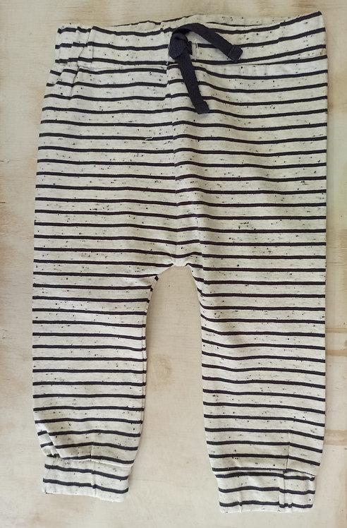 Pantalón Rayas Jaspeado Cordón Negro - 6 meses - MINYMO