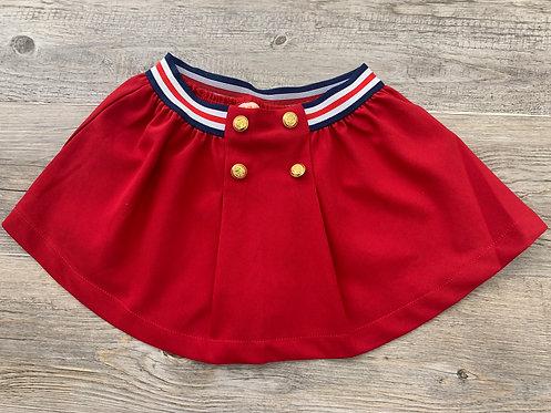 Falda Roja Botones Dorados - UBS2