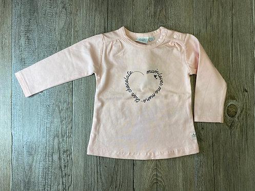 Camiseta Rosa Mum Loves Me More Than Chocolate - 9 meses - FEETJE