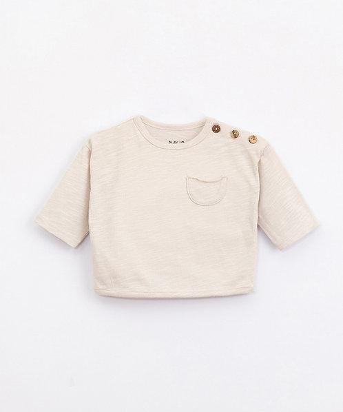 Camiseta de Algodón Orgánico con Bolsillo   Illustration - PLAY UP