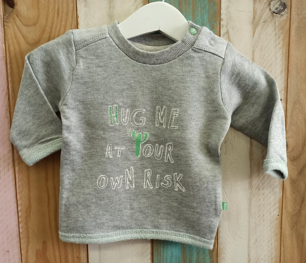Sudadera Gris Hug Me At Yout Own Risk - 1 mes - FEETJE