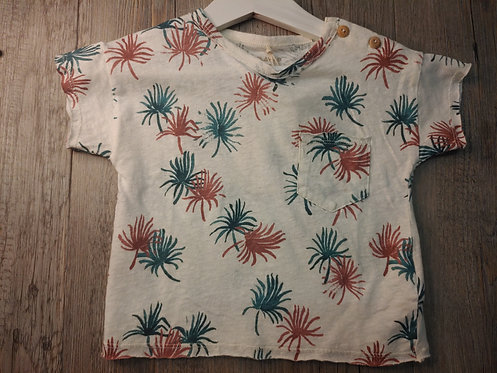Camiseta Blanca Palmeras - PLAY UP