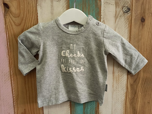 Camiseta My Cheeks Are Made For Kisses - 1 mes - FEETJE