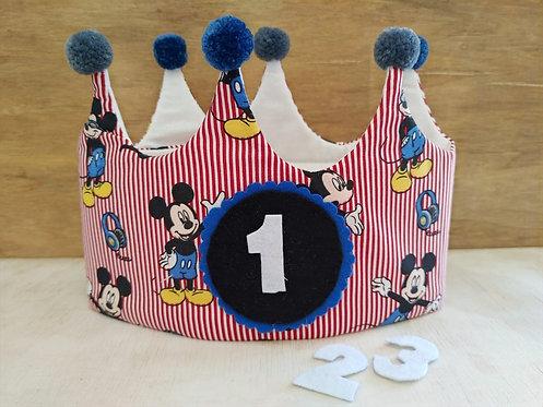 Corona de Cumpleaños Mickey - RAINBOW BABY