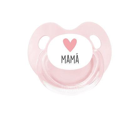 Chupete Retro Rosa Corazón Mamá