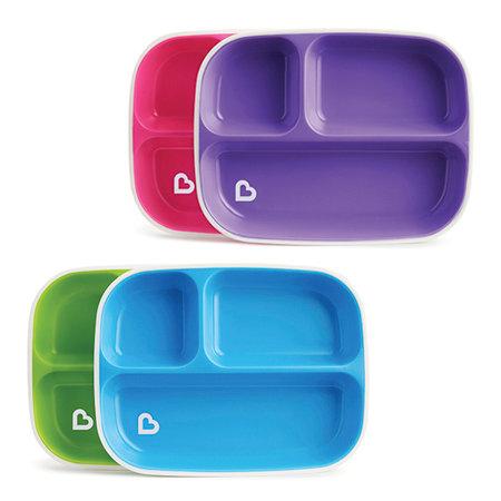 Pack Platos con Compartimentos Antideslizantes Splash (2 ud.)