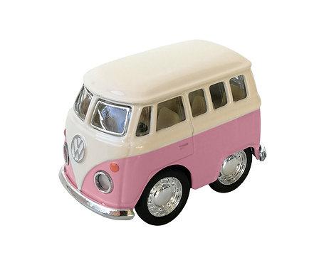Mini Furgoneta Volkswagen Lisa Rosa - Beetle Classical