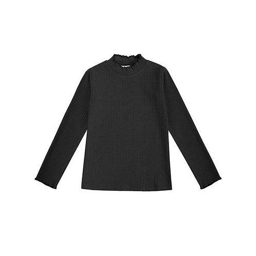 Camiseta Punto Acanalado Negra - UBS2