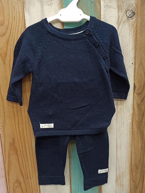 Conjunto Azul Marino FirstKnit - 1 mes - FEETJE