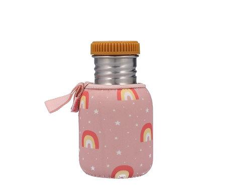 Botella Acero con Funda Arcoiris Rosa Personalizable 350ml