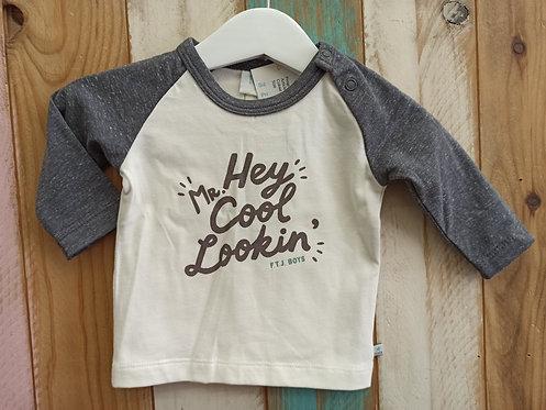 Camiseta Hey Cool Lookin' - 1 mes - FEETJE