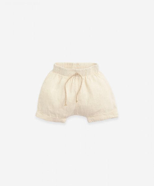 Pantalón corto de lino con bajo vuelto | Botany - PLAY UP
