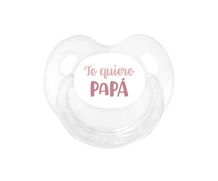 Chupete Retro Te quiero Papá Rosa
