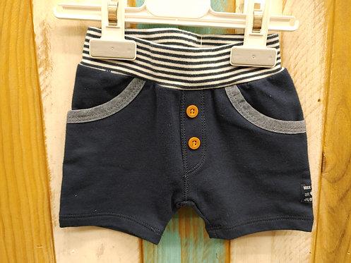 Pantalón Azul Oscuro Botones Marrones Goma Rayas - FEETJE