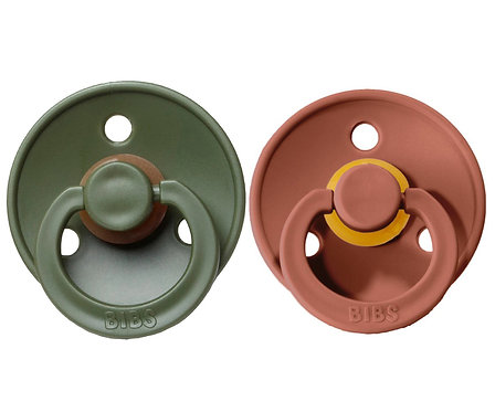 2 Chupetes BIBS Colours Woodchuck/Hunter Green