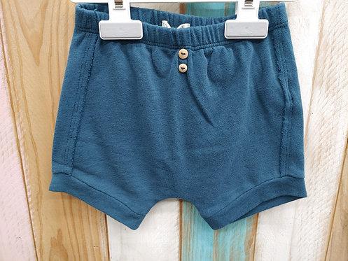 Pantalón Corto Verde Con Botones - 6  meses - PLAY UP